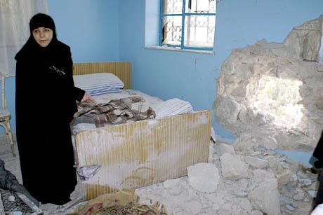 Дети увернулись от влетевшего в монастырь снаряда