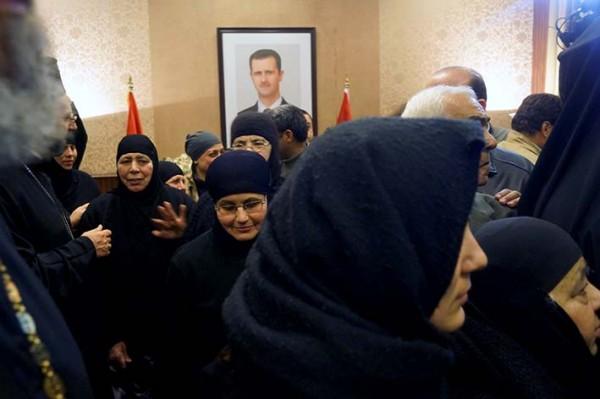 Освобожденные в Сирии монахини приняли участие в молебне